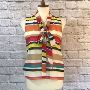 Alice + Olivia striped blouse size XS